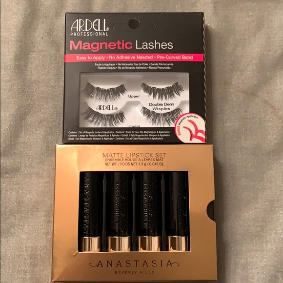 Other - Anastasia of Beverly H. matte lipstick set/lashes